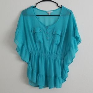 Flowy Blue Cover Top